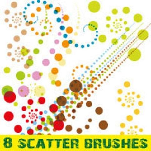 Paquete de pinceles Scatter para Illustrator