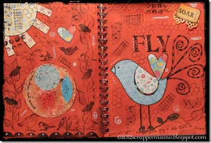 art journal fly 2 w border