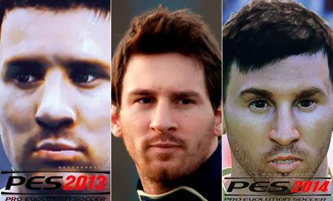 PES 2014 gráficos de los jugadores