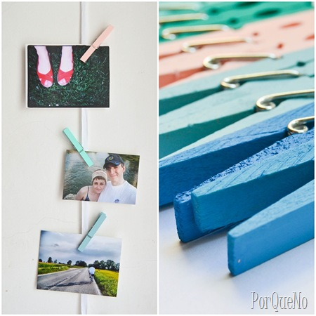 Painted Clothes pins for Hanging Photos