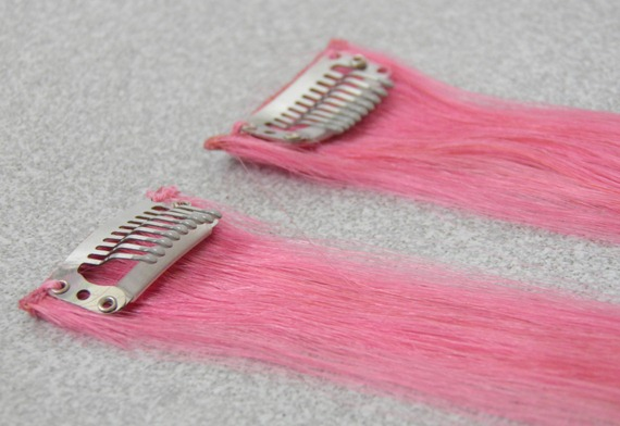 LIGHT PINK HAIR EXTENSIONS