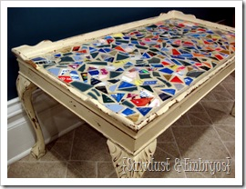 Mosaics on Furniture {Sawdust and Embryos}