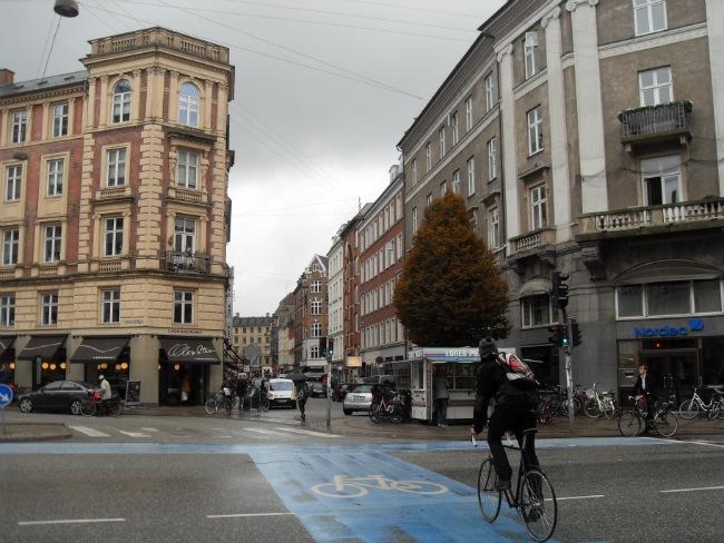 Vesterbrogade ved Værnedamsvej en regnfuld dag i oktober 2012