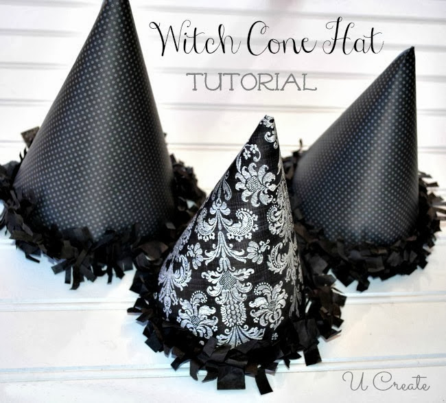 Witch Cone Hat Party Favors - great for Halloween parties or witches night - free template!