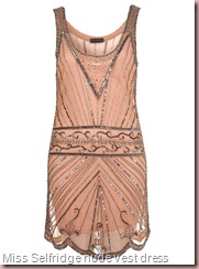 Miss Selfridge Nude Embellished Vest Dress