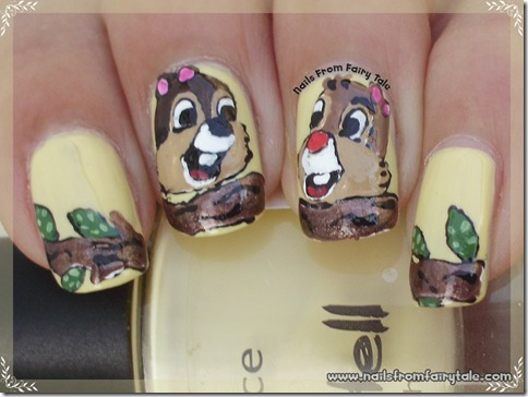 chip and dale nail art 5