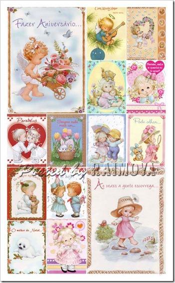 cartões com imagens e frase para homenagear pessoas especiais.