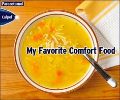 Calpol My Favorite Comfort Food promo