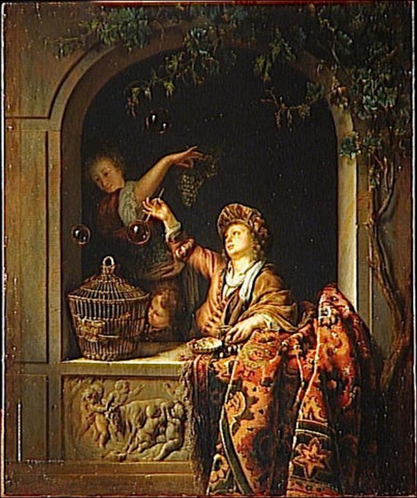 Willem Van Meris, Les bulles de savon