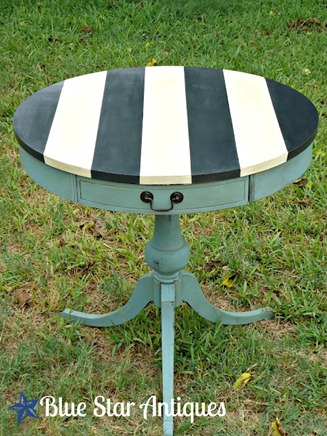 pretty striped table