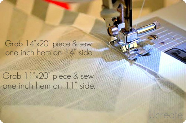 sew one inch inseam