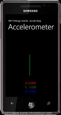 WP7.1 Demo - Accelerometer - UI