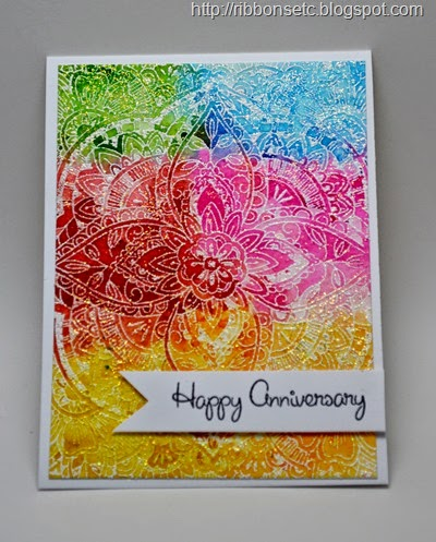 hero Arts Basic Grey Large Petal background, My Sentiments Exactly Anniversary sentiments
