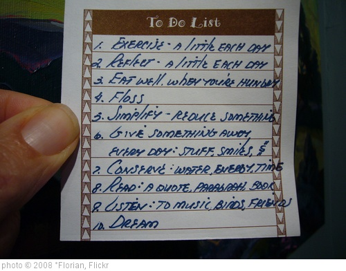 'To Do List' photo (c) 2008, °Florian - license: http://creativecommons.org/licenses/by-sa/2.0/