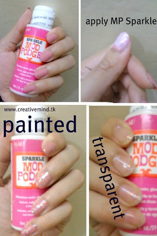 mod podge for fingernails