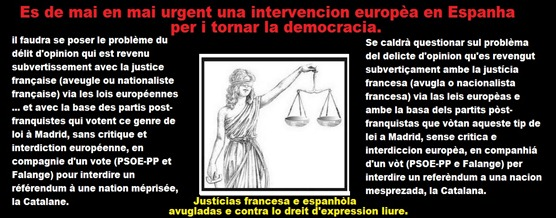 justícias francesa e espanhòla ajudada per Euròpa