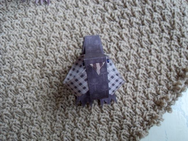 Emilies poncho - som den var
