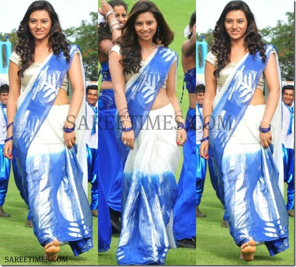 Isha_Chawla_Dual_Color_Saree