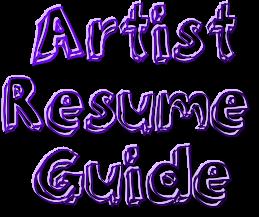 How to Create an Artist Resume | Artpromotivate