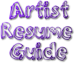 artist resume guide. Resume Example. Resume CV Cover Letter
