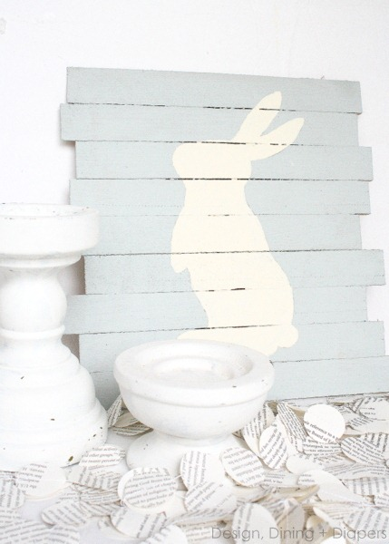 DIY Easter Bunny Pallet Art by DDD