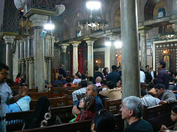 Imagini Cairo: biserica suspendata, Cairo, Egipt