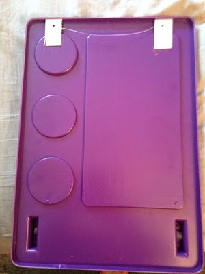 Poly Plex purple storage bar and mirror back