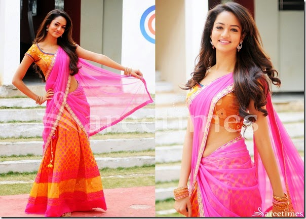 Shanvi_Pink_Orange_Half_Saree