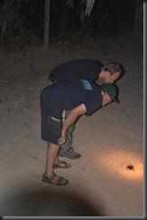 Terry & Mikkel with huge spider - Sue