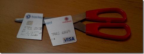 Carta di credito tagliata