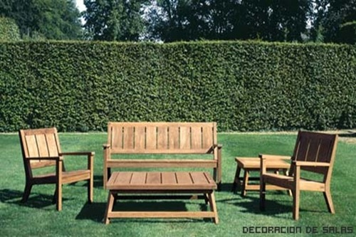 Materiales de los muebles de jardin decoracion de interiores for Decoracion muebles jardin