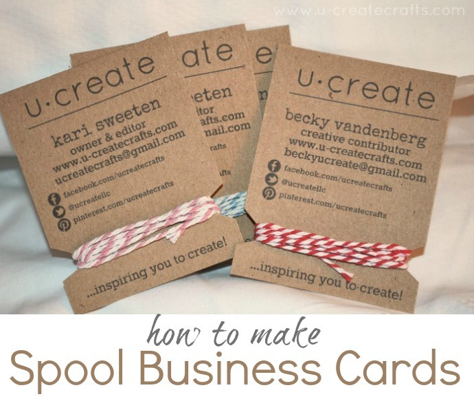 how to make spool business cards