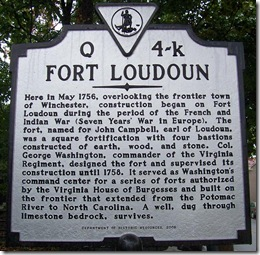Fort Loudoun Marker Q-4k on Loudoun Street, Winchester, VA