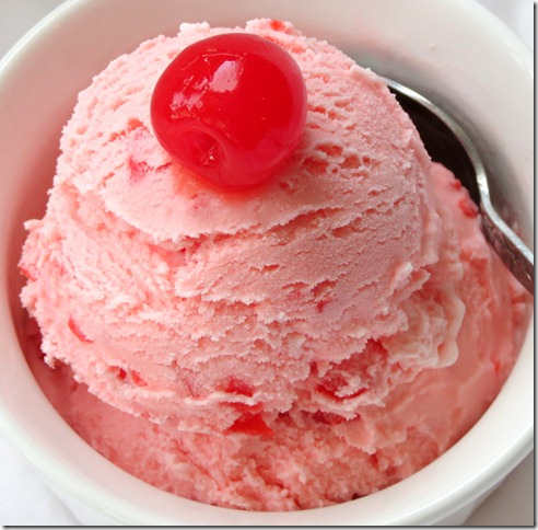Marischino Cherry Ice Cream