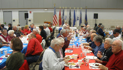 About 100 veterans, family, and friends gathered at the Iowa National Guard Readiness Center in Washington on Monday.