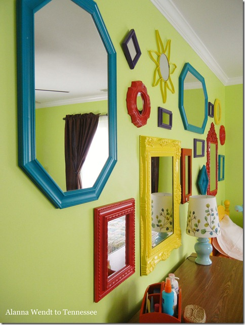 Alanna wendt to tennessee kids mirror gallery wall for Mirrors for kids rooms