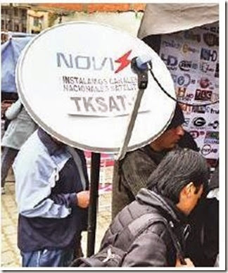 Antenas satelitales en Bolivia
