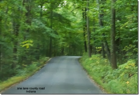 one lane county road