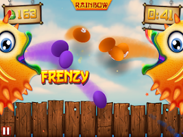Screenshot of Fruit Ninja vs Skittles