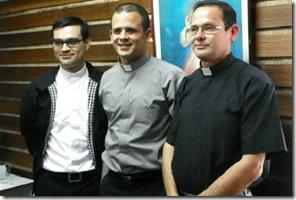 tres nuevos sacerdotes costarricenses