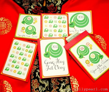The Silly Pearl - Free Printable Year of the Snake Red Envelopes