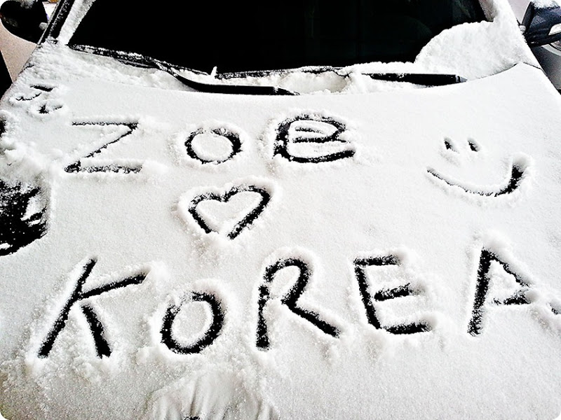 Snow-writing