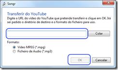SongR Tranferir do youtube