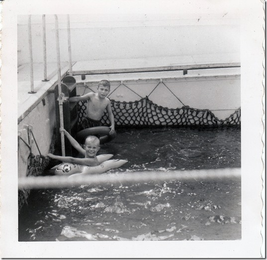 59 - Sydney and Edwin Webster on the S.S. Brazil July 1952 Photoshopped