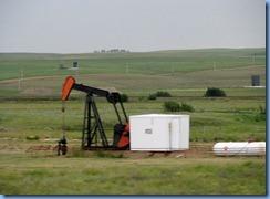 2012 Saskatchewan TC-1 East - one of many oil well pumps between Gull Lake & Webb