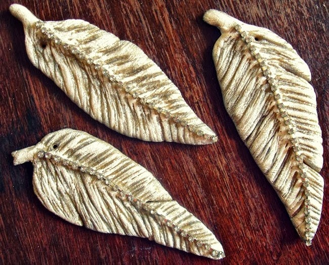 clay feathers 2