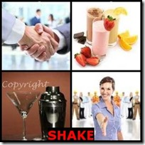 SHAKE- 4 Pics 1 Word Answers 3 Letters