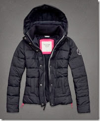 Abercrombie Fleece Lined Down Jacket