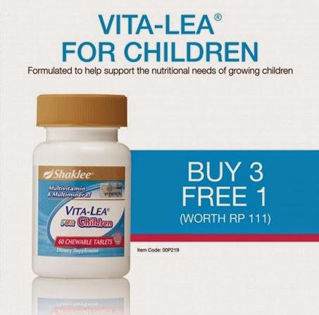 Vitalea for Children - Buy 3 Free 1 Promotion January 2015