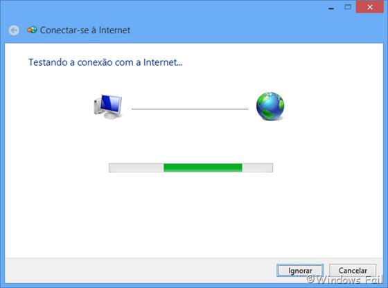 Testando a conexão com a Internet